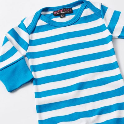 Blue Stripe Baby Grow