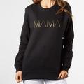Womens Metallic MAMA Sweatshrit