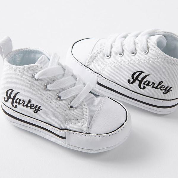 White Custom Baby Converse Crib