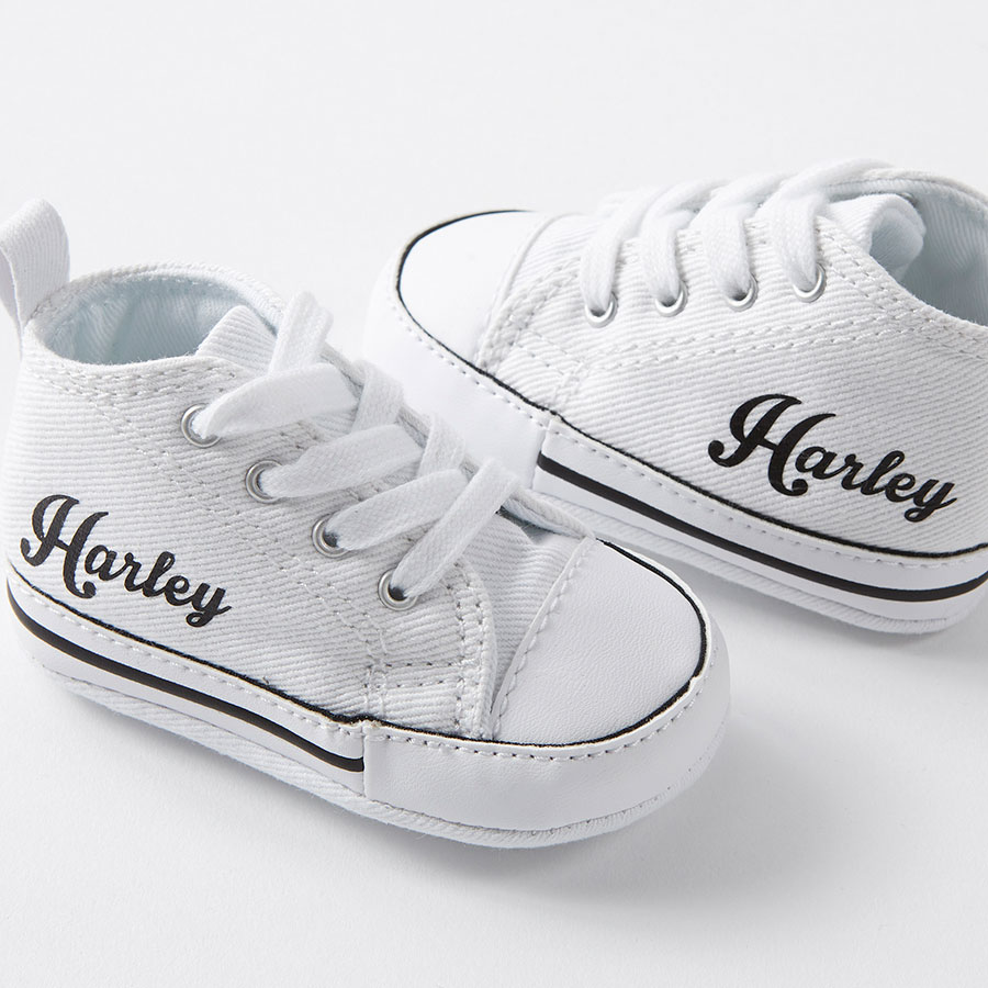 White Custom Baby Converse Crib - Nappy Head af35fb5cd