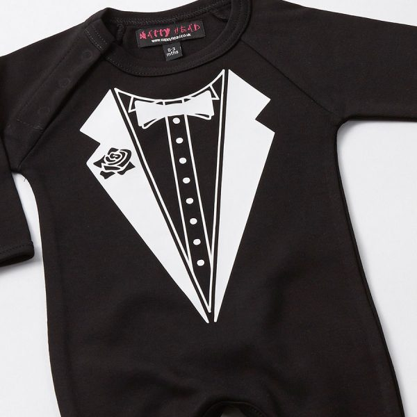 tuxedo baby grow