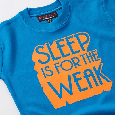 Buy Cool Baby Clothes by Nappy Head. Blue Sleep is for weak baby t-shirt