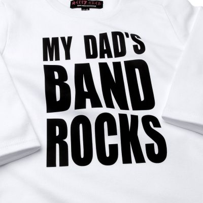 My Dads Band Rocks Slogan Kids T-shirt