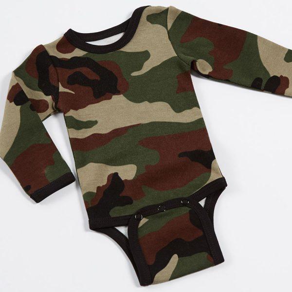 Army Print Baby Grow