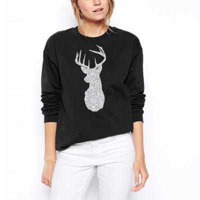 Glitter Reindeer Christmas Jumper