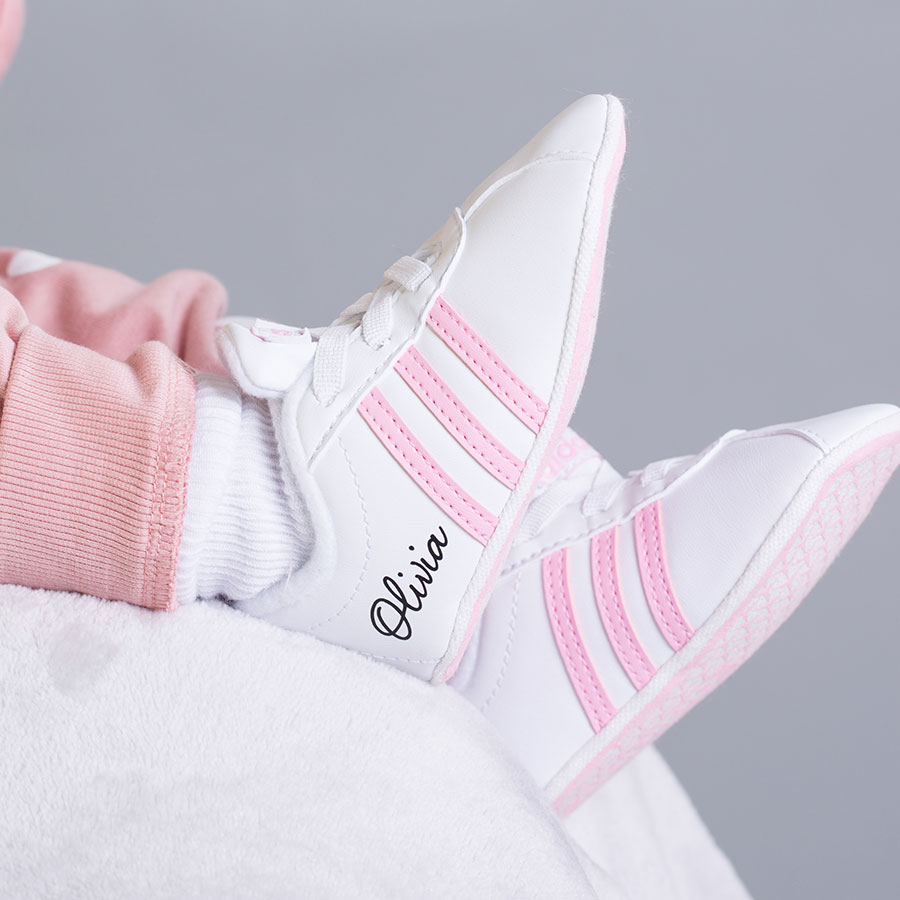 Personalised Adidas Court Baby Shoes