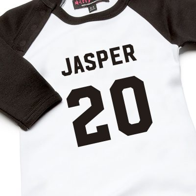 personalised football babygrow