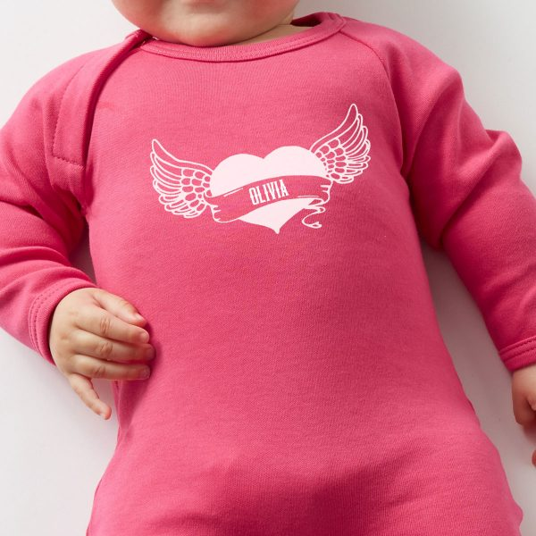 personalised-baby-grow-with-heart-tattoo-pink