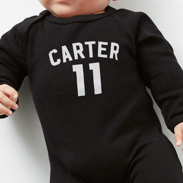 personalised-football-babygrow